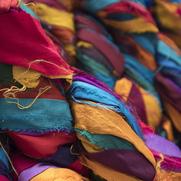 Sari Silk Ribbon, Fibres & Yarn