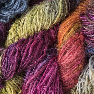 Silk Sari Yarn Hand dyed