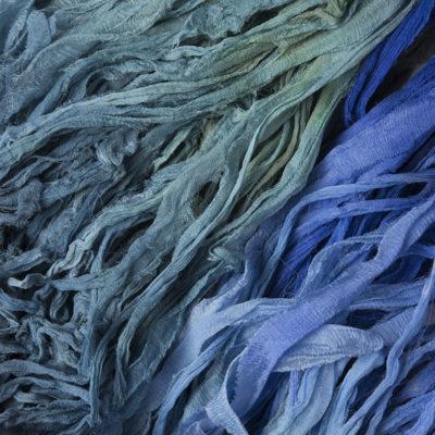 Chiffon Silk Ribbon - Hand dyed